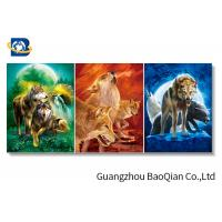 Cheap Angry Wolf Stock 3D Picture Lenticular Flip 0.6MM Thickness With Black MDP Frame for sale