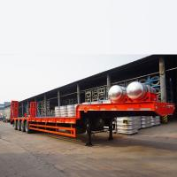 China TITAN Low Bed Semi Trailer in ethiopia on sale