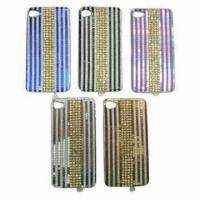 China Crystal case for iphone 4, with diamond line cover, iphone accessories on sale