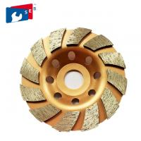 Cheap 125mm Turbo Diamond Masonry Grinding Cup Wheel with Alloy Bond for General Purpose for sale