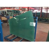 China Flat / Curved Decorative Toughened Tempered Glass for Building , Furniture , Shower Door on sale