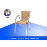 Cheap Patio Bamboo Wicker Rattan Chairs For Commercial , Leisure Plastic Chair Outdoor for sale