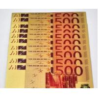China €5 €10 €20 €50 €100 €200 Euro colorful Gold Foil Banknote on sale