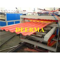 Cheap Plastic Roofing Sheet Making Machine , PVC Roof Panel Machine Production Line for sale