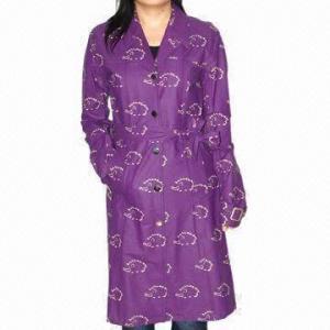 Cheap Women's Raincoat, Long, PU Fabric, Waterproof 3000 for sale