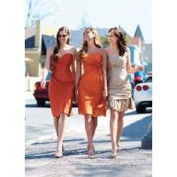 China Draped With Flower Knee-Length Sweetheart Bridesmaid Dresses (BD10010) on sale