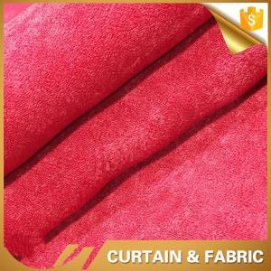Cheap velvet plain color sofa fabric shaoxing for sale