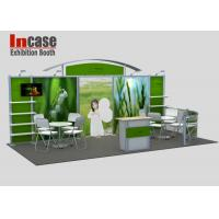 Cheap Durable 10x20 Trade Show Displays Constructed Green Back Wall for sale