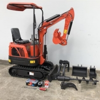 China High quality small excavator powerful mini excavator with diesel engine EPA gasoline engine on sale