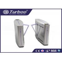 Cheap Double Anti - Clipping Access Control Turnstile Gate Retractable Flap Barrier for sale
