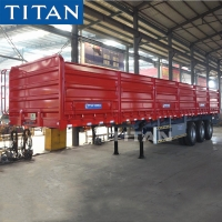 Cheap 60T Bulk Cargo Transport Grain Trailer with Drop Side for Sale for sale