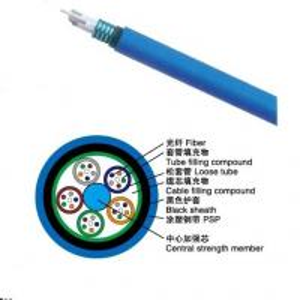 8 core single mode Stranded Loose Tube Mining Flame-retardant Optical Cable (MGTSV)