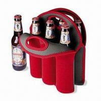 Cheap Neoprene Can/Beer Bottle Cooler with Logo Printings, Measures 32 x 38 x 0.3cm for sale