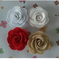 Cheap Felt Rose Artificial Fabric Craft Flowers Use In Perfect Spring Bouquet for sale