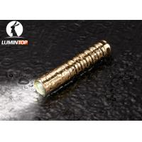 Cheap Waterproof Everyday Carry Flashlight Brass Material Good Heat Dissipation for sale
