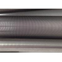 Filtration Cylinder Stainless Steel Tube / 40 Micron Johnson Screen Inside Rods Lengthways