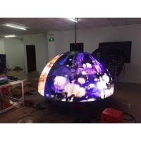 Cheap P4 P5 customized diameter curved led ball display video led TV board wholesale