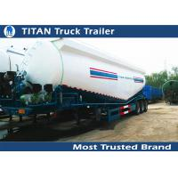 Cheap V / W type reinforced steel Cement bulker trailer with 3 axles 35m3 - 50m3 volume for sale