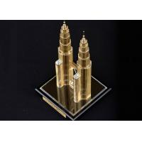 Cheap Famous Building Crystal Decoration Crafts , Malaysia Twin Tower Tourism Souvenirs for sale