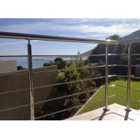 China Stainless Steel Cable Guardrail System Solid Rod Bar Railing Balustrade on sale