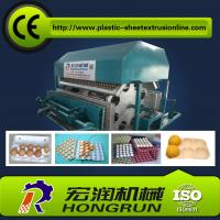 Cheap Automatic Rotary Egg Tray Machine , Fully Roller Egg Boxing Machine Line 2000pcs/hr for sale