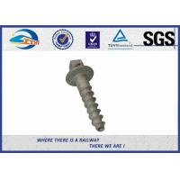 Cheap Railroad Sleeper Galvanized Screws with Plain / Zinc / HDG / Wax Surface for sale