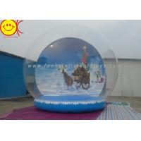 Cheap Customized Logo Holiday Inflatables , PVC Inflatable Snow Globe Decorative Holiday for Christmas for sale