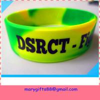 Cheap swirl color 1 inch debossed silicone bands wholesale