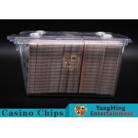 Cheap Anti - Theft Transparent 8 Decks Poker Discard Holder For Card Entertainment for sale