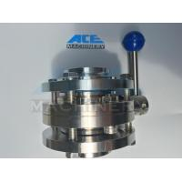 Cheap Stainless Steel Food Grade Manual Welded Butterfly Valve (ACE-DF-1A) for sale