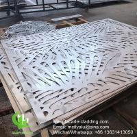 Cheap China Powder coated Metal aluminum laser cut panel cladding for facade exterior cladding for sale
