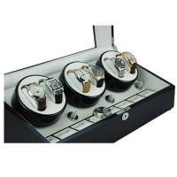 Cheap High quality brown wooden display boxes cheap automatic watch winder with leather lining for sale