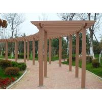 China Garden / Prefab Wall Mounted Pergola , Red Wood / Coffee Recycled Plastic Pergola on sale