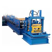 Galvanized Steel CZ Purlin Roll Forming Machine 400H Beam Frame With Post Cutting