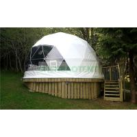 China Glass Windows Outdoor Dome Tent House , Dome Clear Tent 6m Different Colors Available on sale