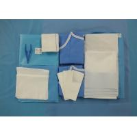 Cheap Surgeon Caesarean Disposable Surgical Packs Non Woven C Section Drape Included for sale