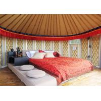 Cheap 21 Square Meters Mongolian Homes Yurts Tent For Living Waterproof Sun Proof wholesale