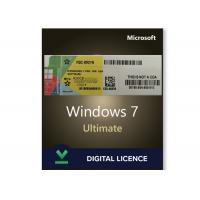 Cheap Ultimate Genuine Windows 7 Product Key SP1 Download Link / MS Activation Key Code Sticker for sale