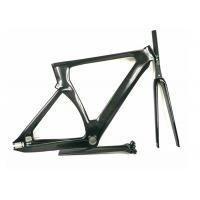 Cheap Matte / Shiny 1400G 700C Carbon Track Bike Frame Aero Type T700 UD Weave for sale