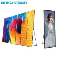 Cheap Stand Indoor Full Color Poster LED Display P2.5 P3 Slim Lightweight 1000 Nits for sale