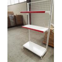 Cheap Supermarket Convenience Store Wire Mesh Shelves , White Wire Shelving Units for sale