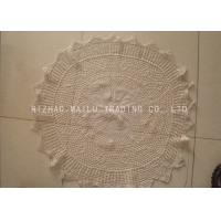 Cheap Multigrids Crochet Doilies Cotton Crochet Round Tablecloths With Scallop Edge for sale