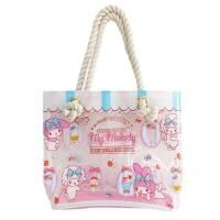 Cheap Shoulder PVC Tote Bag , Transparent Tote Bag Handmade By Heat - Sealed Welding for sale