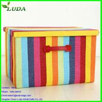 Cheap Canvas Bright Rainbow color  large storage box for sale