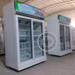 Cheap OP-A407 OPPOL Brand Single-temperature Supermarket Two Glass Door Fridge for sale