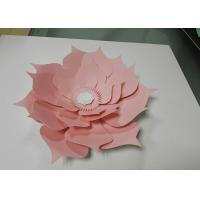 Cheap Custom Size Window Display Decorations Paper Craft Handmade Decorative White Paper Flower for sale