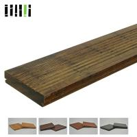 Cheap Natural Wooden Deck Flooring , Solid Bamboo Flooring Traditional Float Installed Type for sale