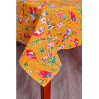 China Orange Custom Printed Tablecloths Machine Washable For Home Kitchen Table on sale