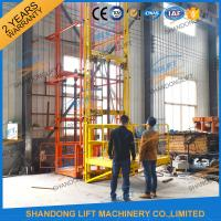 Cheap 700kgs 4m Warehouse Elevator Lift Vertical Guide Rail Lift Vertical Cargo Lift Elevator CE TUV for sale