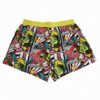 China Men's boxer brief, made of 100% cotton, customized colors are accepted on sale